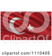 Clipart 3d Waving Flag Of Turkey Rippling And Waving Royalty Free CGI Illustration