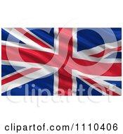 Clipart 3d Waving Flag Of Great Britian Rippling And Waving Royalty Free CGI Illustration