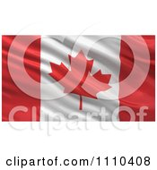 Clipart 3d Waving Flag Of Canada Rippling And Waving Royalty Free CGI Illustration