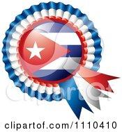 Shiny Cuban Flag Rosette Bowknots Medal Award