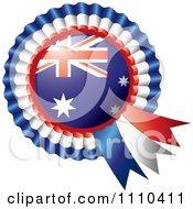 Shiny Australian Flag Rosette Bowknots Medal Award