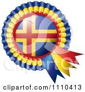 Shiny Aland Flag Rosette Bowknots Medal Award