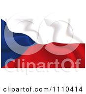 Clipart Crumpled Czech Republic Flag Royalty Free Vector Illustration