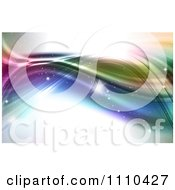 Clipart Background Of Sparkles And Colorful Waves Royalty Free CGI Illustration