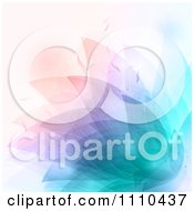 Clipart Background Of Colorful Floral Petals Royalty Free Vector Illustration