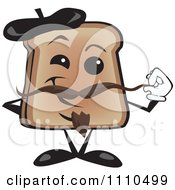 Clipart Toast Holding His Mustache On French Bastille Day Royalty Free Vector Illustration