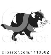 Clipart Black And White Tasmanian Devil Royalty Free Vector Illustration by Dennis Holmes Designs