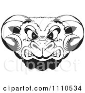 Clipart Black And White Rams Head Royalty Free Vector Illustration