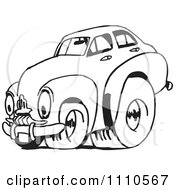 Clipart Black And White Racing Fj Holden Car 2 Royalty Free Illustration