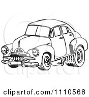 Clipart Black And White Racing Fj Holden Car 1 Royalty Free Illustration