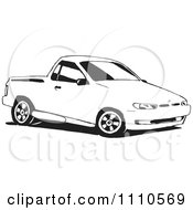 Clipart Black And White Ute Vehicle Royalty Free Illustration by Dennis Holmes Designs