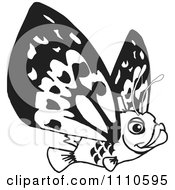 Clipart Black And White Flying Fish Royalty Free Illustration by Dennis Holmes Designs