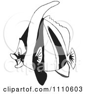 Clipart Black And White Salt Water Marine Fish 6 Royalty Free Vector Illustration by Dennis Holmes Designs