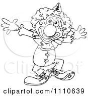 Clipart Black And White Circus Clown Royalty Free Vector Illustration