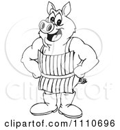 Black And White Butcher Pig