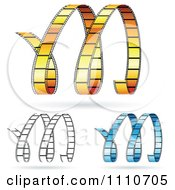 Clipart Movie Film Strips Forming An M Royalty Free Vector Illustration
