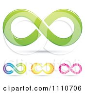 Clipart Colorful Infinity Symbols 4 Royalty Free Vector Illustration