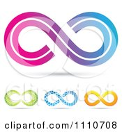 Clipart Colorful Infinity Symbols 3 Royalty Free Vector Illustration