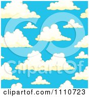 Clipart Seamless Puffy Cloud Pattern 2 Royalty Free Vector Illustration