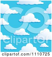 Clipart Seamless Puffy Cloud Pattern 1 Royalty Free Vector Illustration