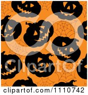 Clipart Seamless Halloween Pumpkin And Spider Web Pattern Royalty Free Vector Illustration by visekart