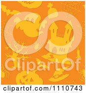 Clipart Seamless Orange Halloween Pattern Royalty Free Vector Illustration by visekart