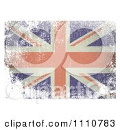 Clipart UK British Union Jack Flag With White Distress Grunge Royalty Free Vector Illustration by michaeltravers