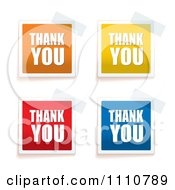 Clipart Colorful Thank You Tags Taped To A Surface Royalty Free Vector Illustration by michaeltravers
