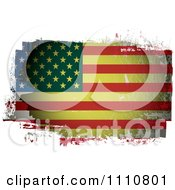 Clipart Grungy Painted American Flag Royalty Free Vector Illustration by michaeltravers
