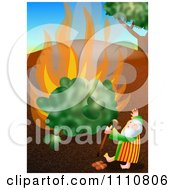 Clipart Moses By The Burning Bush Royalty Free CGI Illustration by Prawny
