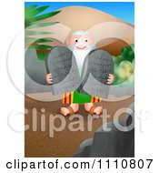 Moses Carrying The Ten Commandments Tablets