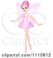 Beautiful Pink Haired Ballerina Fairy
