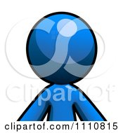 Clipart Blue Guy Avatar Royalty Free CGI Illustration