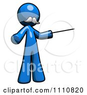 Clipart Tutorials Blue Guy Pointing Royalty Free CGI Illustration