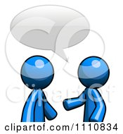 Clipart Blue Guys Talking In A Forum Royalty Free CGI Illustration