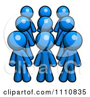 Clipart Group Of Blue Guys Royalty Free CGI Illustration