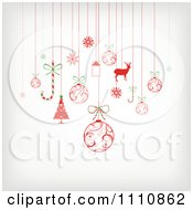 Clipart Suspended Christmas Ornaments Royalty Free Vector Illustration by OnFocusMedia