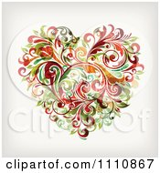 Clipart Floral Vine Heart Royalty Free Vector Illustration