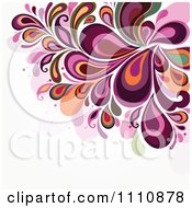 Clipart Purple Floral Background With Copyspace Royalty Free Vector Illustration