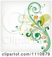 Green Floral Background With Copyspace 1