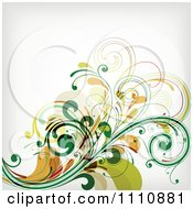 Green Floral Background With Copyspace 2