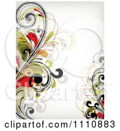 Clipart Floral Background With Copyspace 1 Royalty Free Vector Illustration