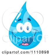 Clipart Water Drop Smiling Royalty Free Vector Illustration by Hit Toon