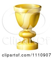 Clipart 3d Golden Goblet Or Grail Royalty Free Vector Illustration