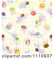 Clipart Seamless Pattern Background Of Easter Bunnies Royalty Free Vector Illustration by Cherie Reve