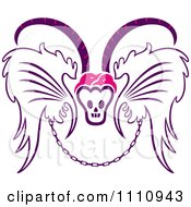 Clipart Till Death Do Us Part Emblem Of Wings Chain And Horned Skull Royalty Free Vector Illustration by Cherie Reve