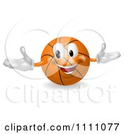 Clipart 3d Happy Basketball Mascot Royalty Free Vector Illustration by AtStockIllustration