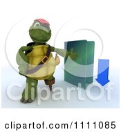 Clipart 3d Illegal Download Hook Hand Tortoise Pirate With A Blue Folder Royalty Free CGI Illustration by KJ Pargeter