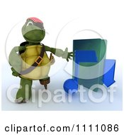 Clipart 3d Illegal Music Download Hook Hand Tortoise Pirate With A Blue Folder Royalty Free CGI Illustration by KJ Pargeter