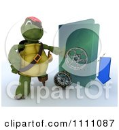 Clipart 3d Illegal Movie Download Pirate Tortoise With A Blue Folder And Film Reels Royalty Free CGI Illustration by KJ Pargeter